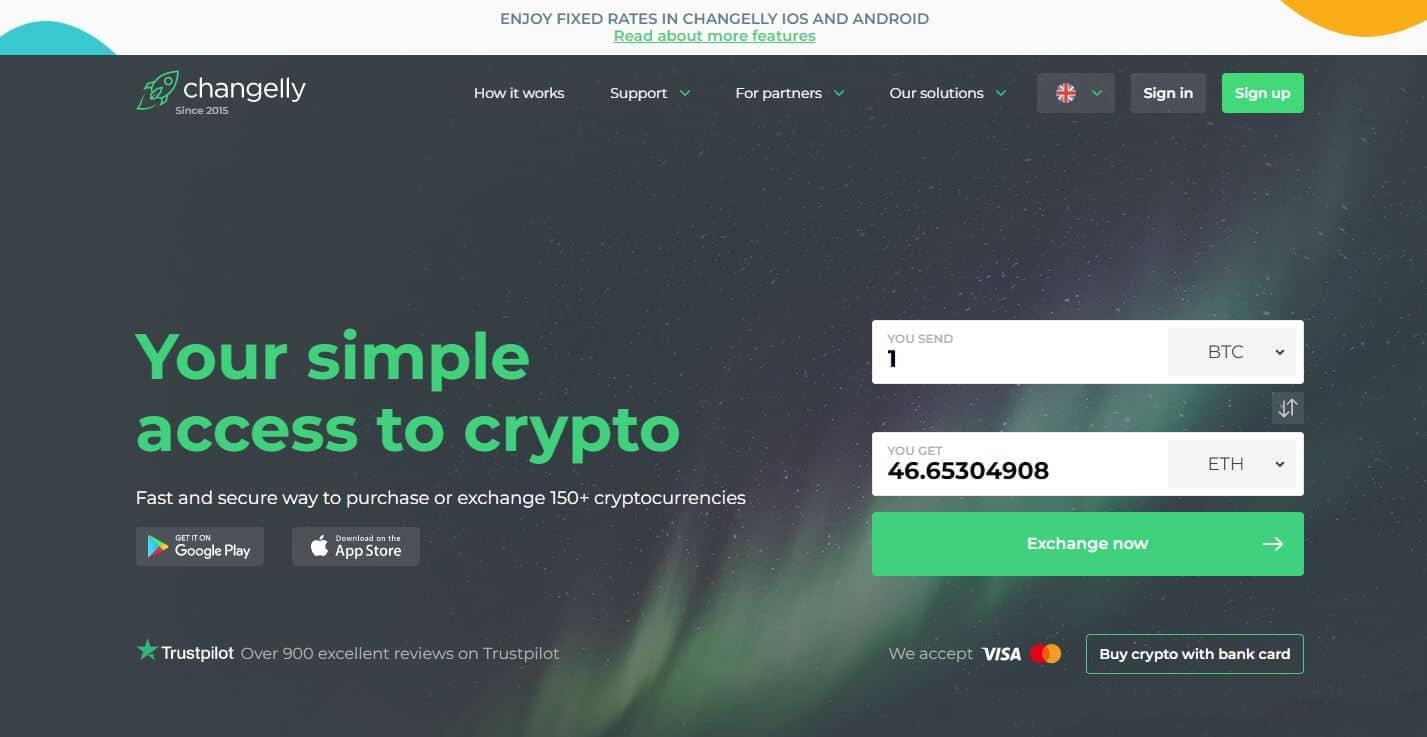 acheter des cryptos avec Changelly